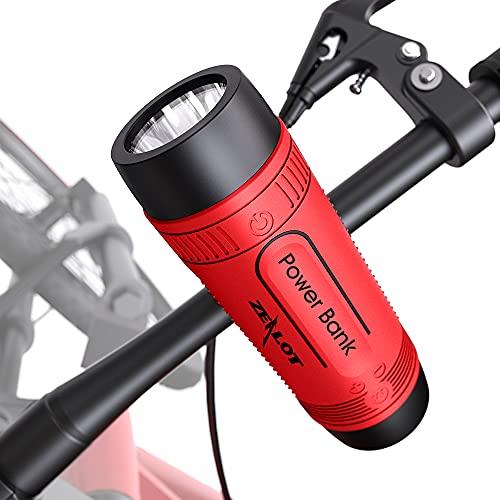ALTAVOCES MULTIFUNCIÓN PARA LA BICICLETA Bluetooth 10W batería recargable de 4000mAh Linterna Led con 3 modos