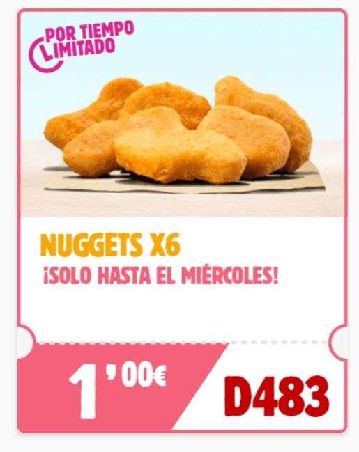 6 BK NUGGETS por Solo 1€