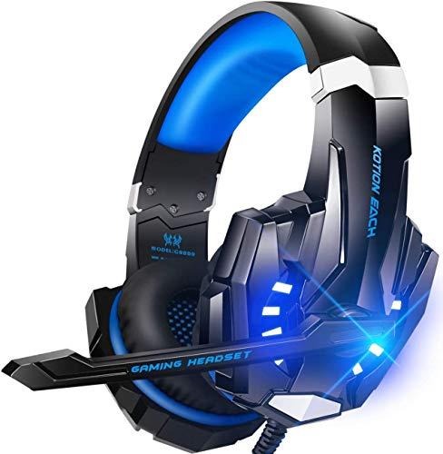 Auriculares estéreo para juegos para PS4, PC, Mac Nintendo, controlador Xbox One