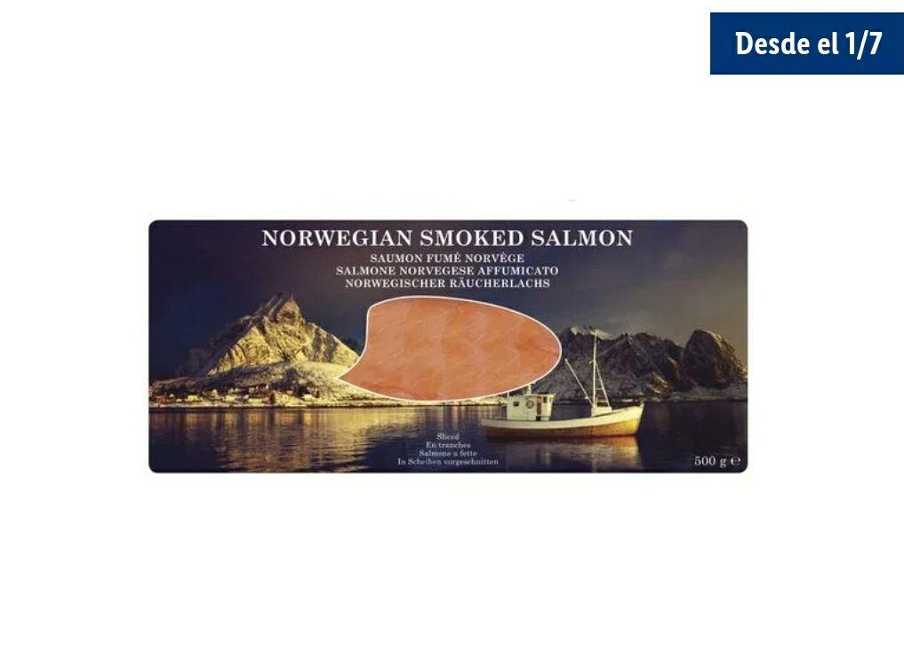 Medio kilo de salmón ahumado noruego en tiendas Lidl a partir del 1/7