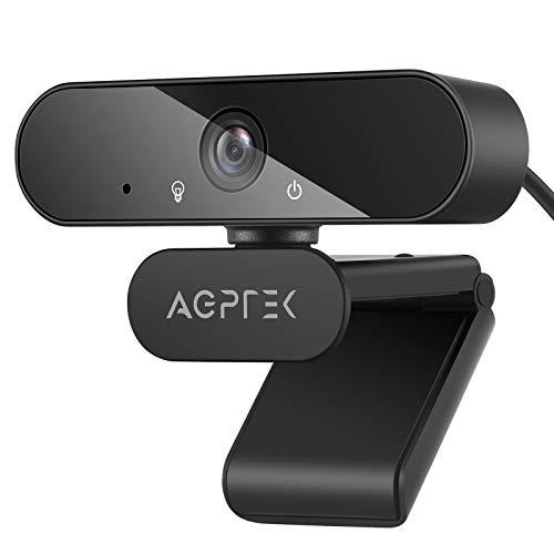 AGPTEK Webcam 1080P Full HD 105°con Micrófono Estéreo, Cámara Web con Trípode para Video Chat