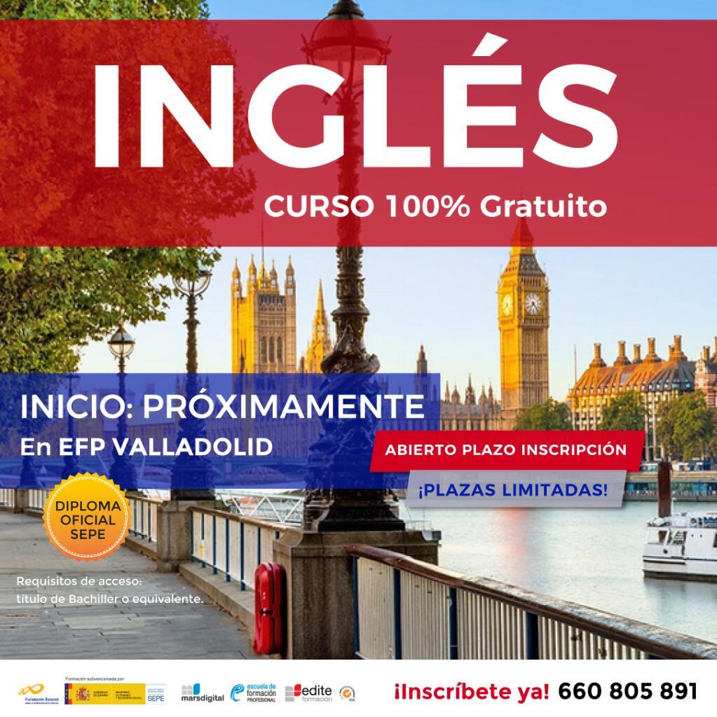 Curso presencial de Inglés gratuito en Valladolid.