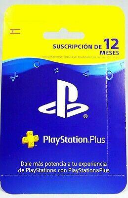 PlayStation Plus 12 meses / Cuenta España