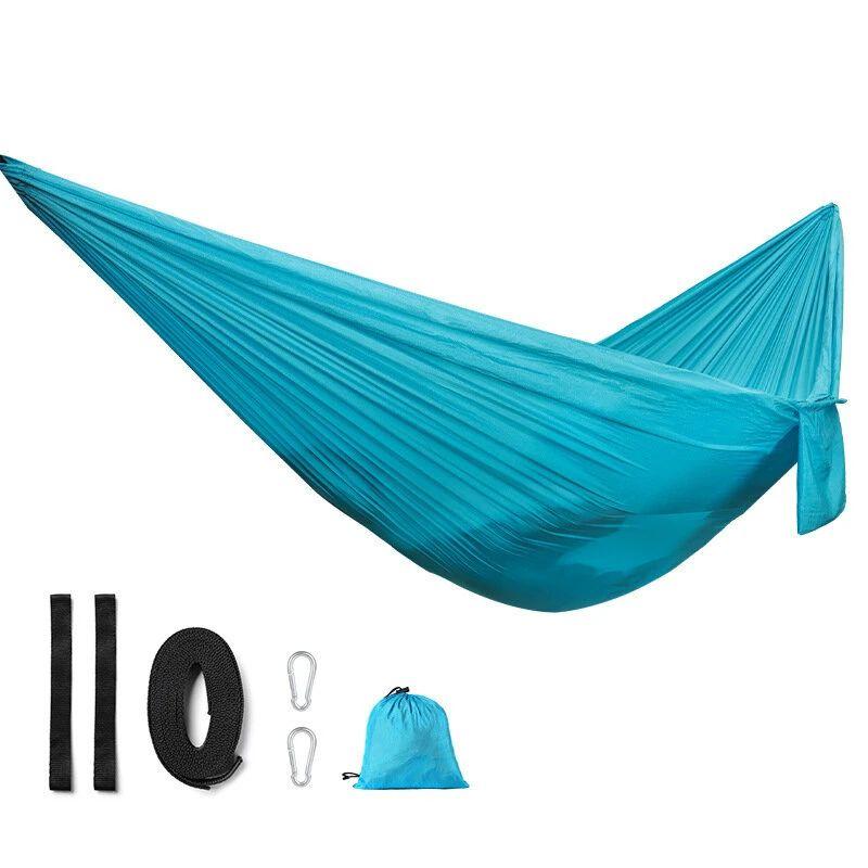 Hamaca de nailon portátil Ligera para acampar al aire libre