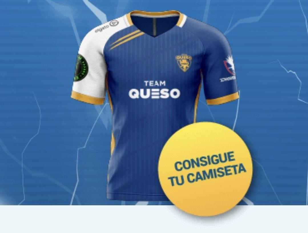 Camiseta oficial Team Queso contratando la fibra con Digi