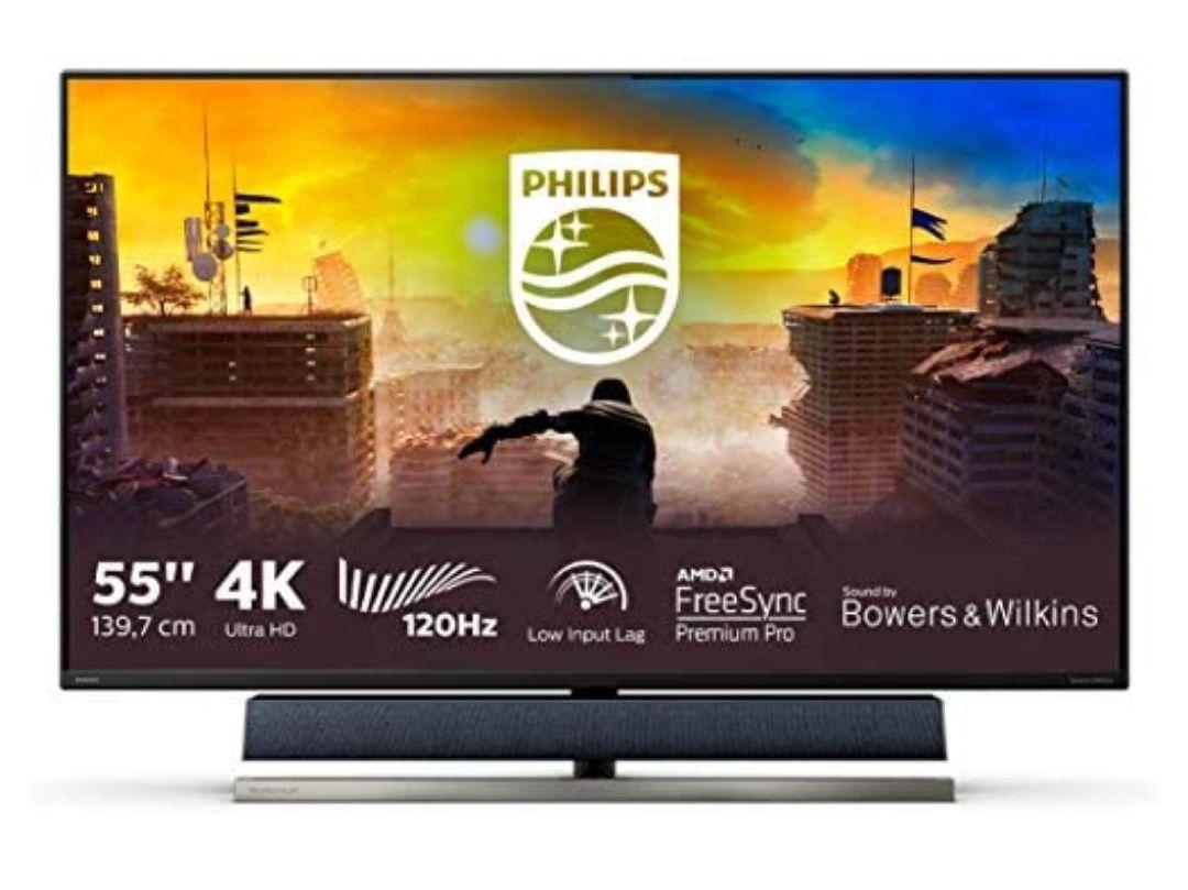 "Philips 558M1R/00Y- Monitor de 55"" UHD 4K (3840x2160, 120 Hz, VA, Adaptive Sync, 750 CD/m, HDMI 3x2.0, Displayport 1x1.4, Altavoces"