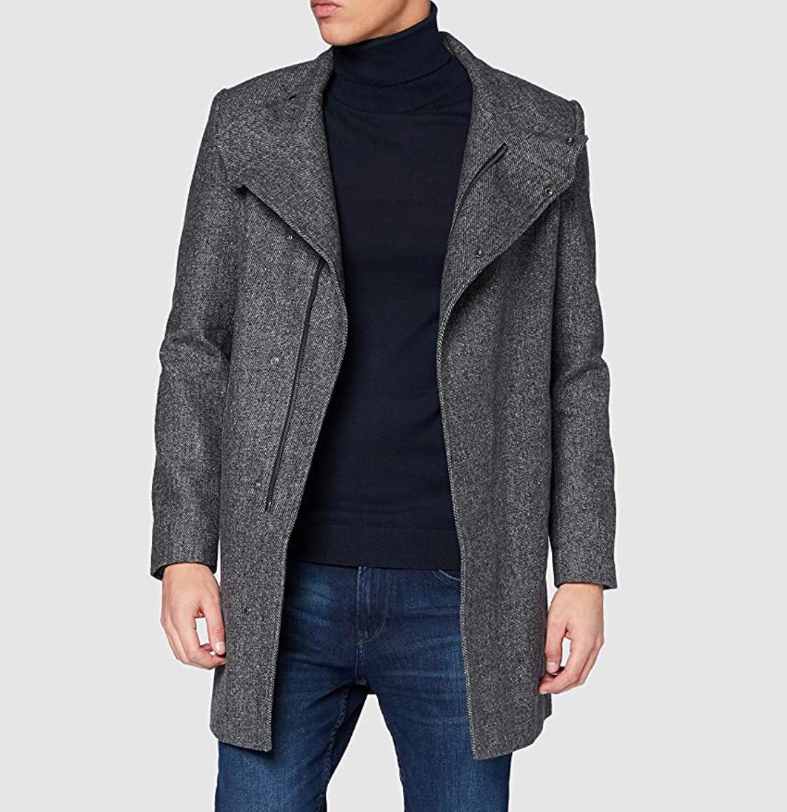 Abrigo actual gris oscuro TOM TAILOR hombre talla XL.