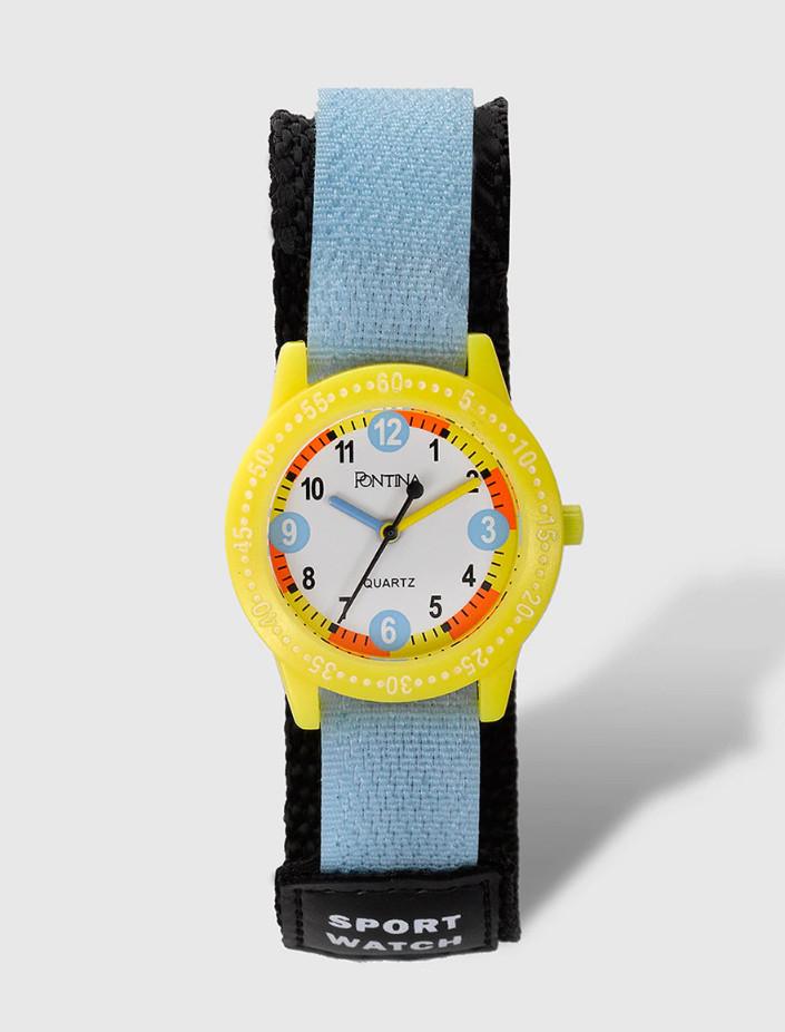 Reloj infantil PONTINA en textil azul por sólo 4,99€ - y más modelos digitales y analógicos al mismo precio