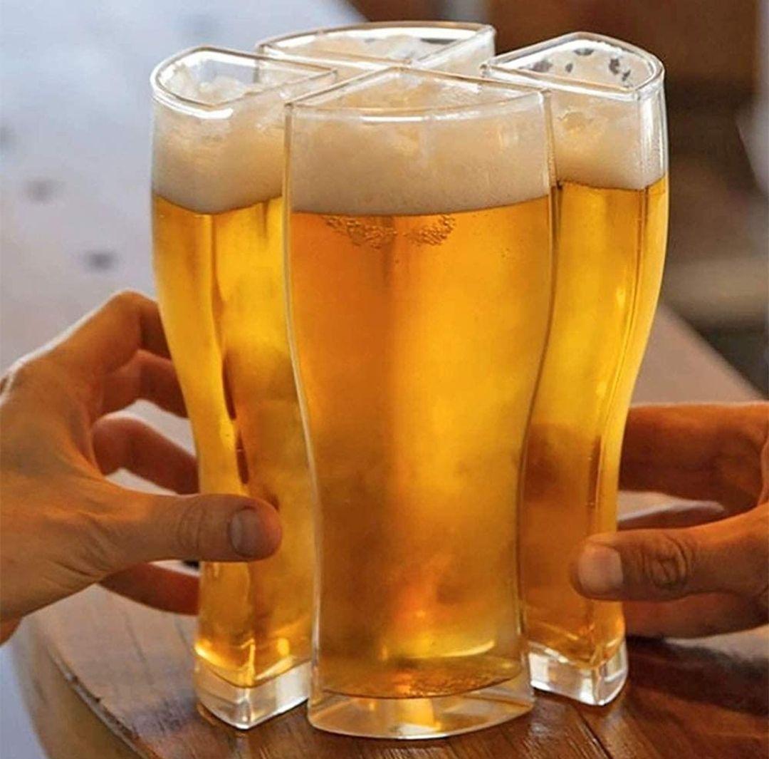 Jarra de cerveza 4 en 1 para compartir (o no) 2 tamaños