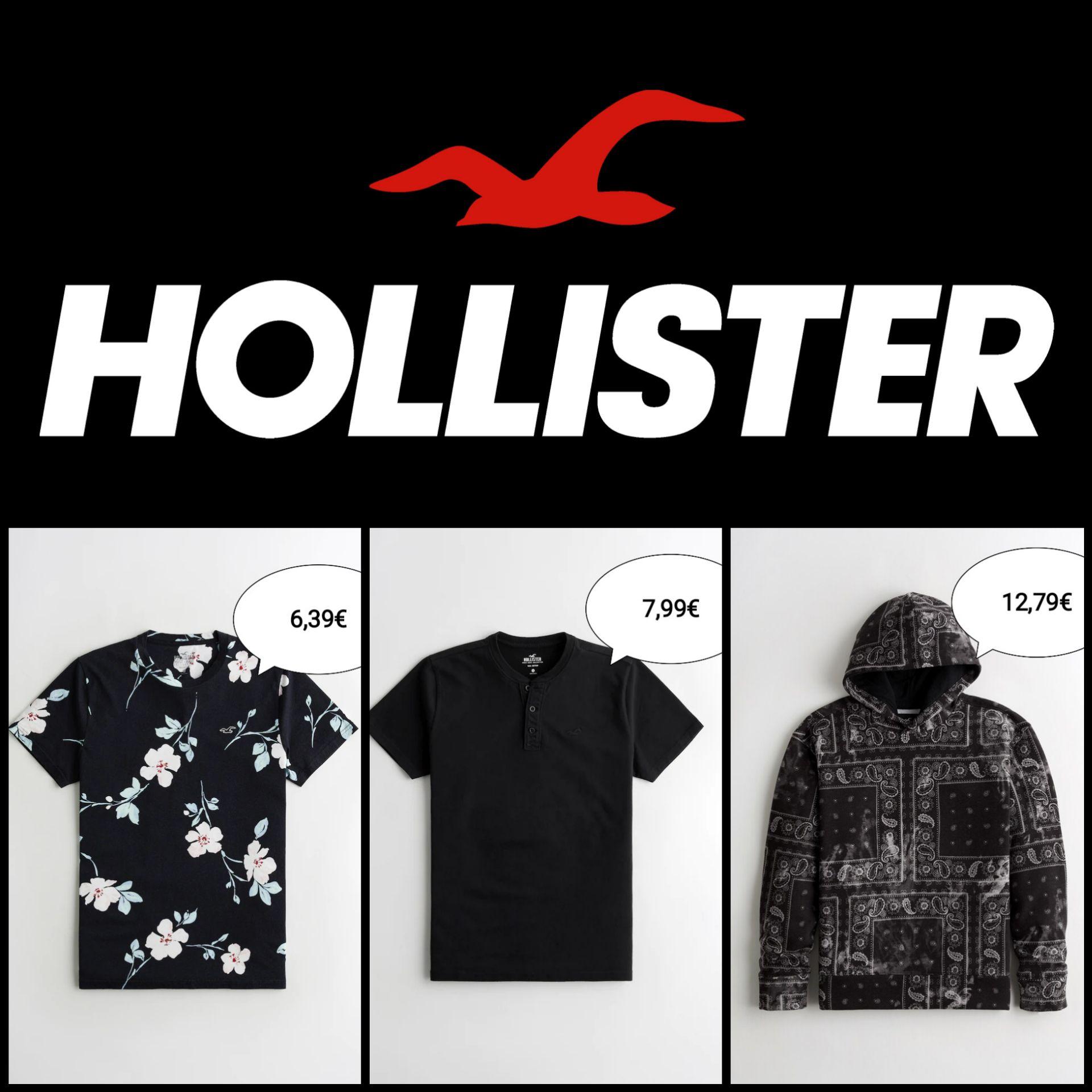 Recopilación Ropa Hollister para Hombre desde 6,39€