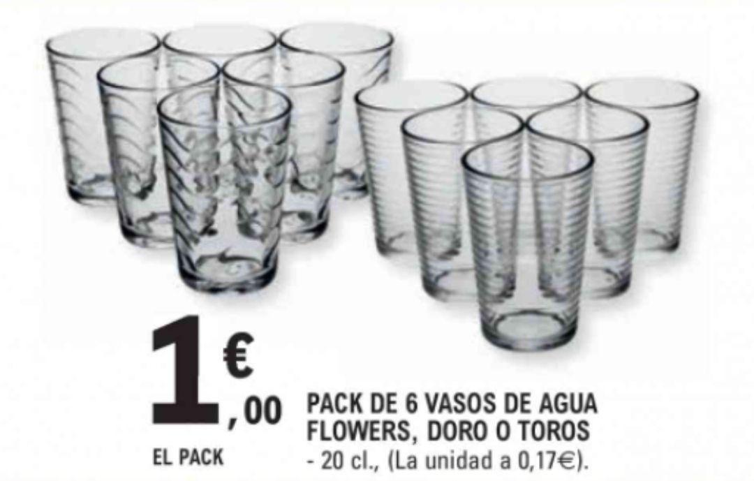 6 vasos de 20cl varios modelos (León)