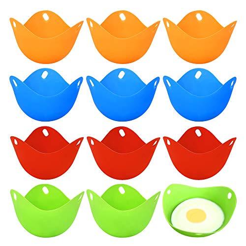 12 Piezas Escalfador de Huevos