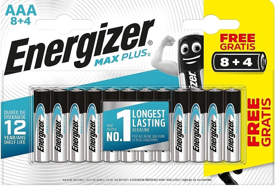 Energizer - Pilas alcalinas MAX Plus AAA LR03, 12 undiades