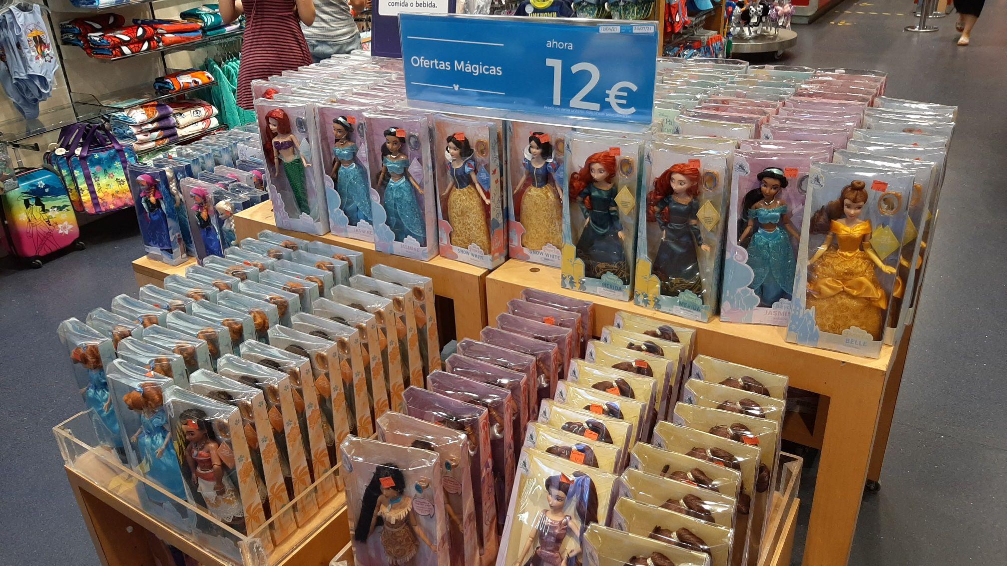 Muñecas de las Princesas a 12€ en Disney Store Parquesur
