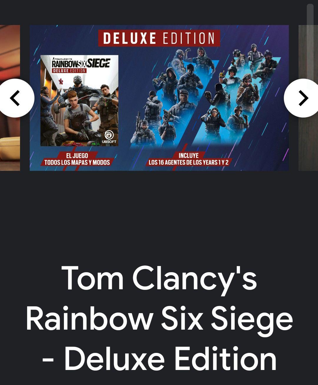 Stadia Tom Clancy's Rainbow Six Siege Deluxe Edition