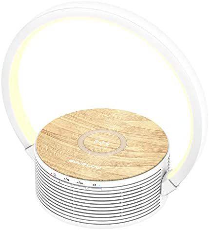 Lámpara de escritorio con carga inalámbrica y altavoz