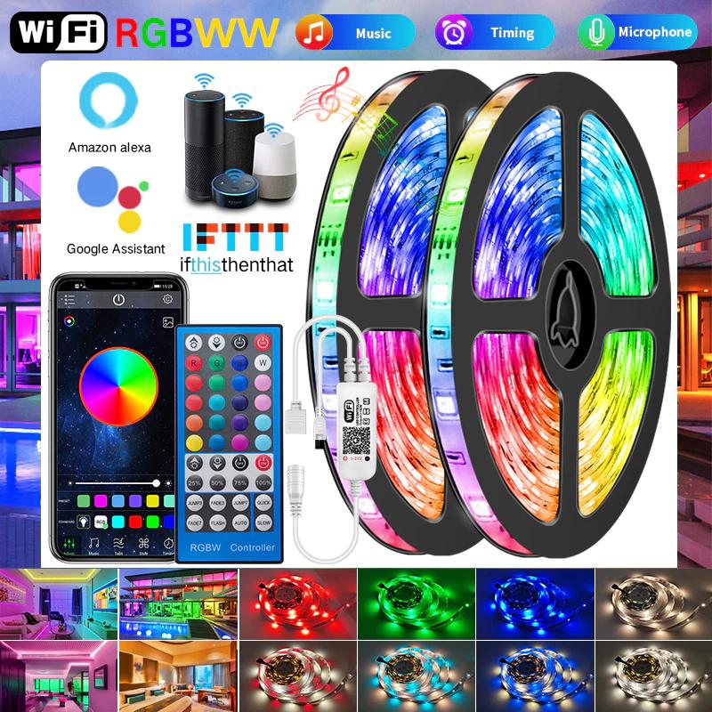 Tira LED 5m RGB con controlador por 1,35€