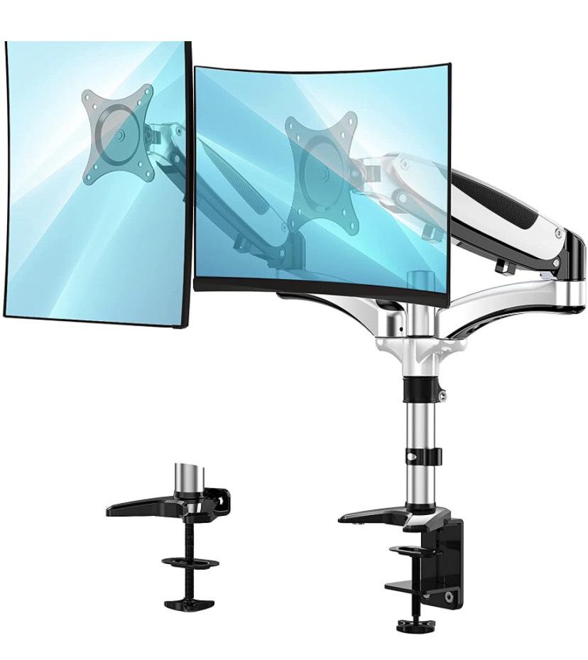 """HUANUO Soporte 360° Dual de Aluminio para Monitor con brazos giratorios (13 a 27"""")"""
