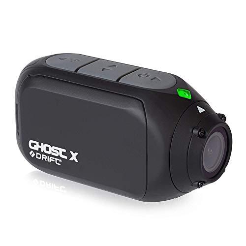 Drift Ghost X Camara Deportiva, Hasta 8-Horas-Bateria, HD 1080p, Lente Giratoria, Modo-Dashcam, Negro