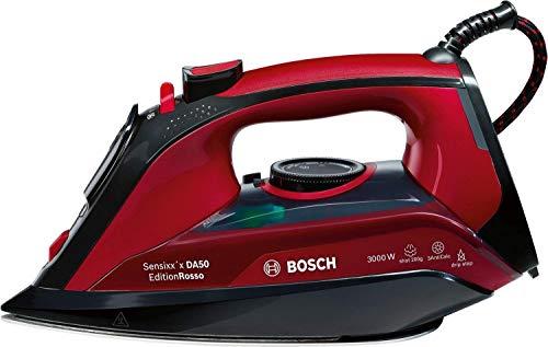 Bosch Plancha A Vapor TDA503001P 3000W, 800 W, 1.2, Cerámica, Negro/Rojo/ Granate