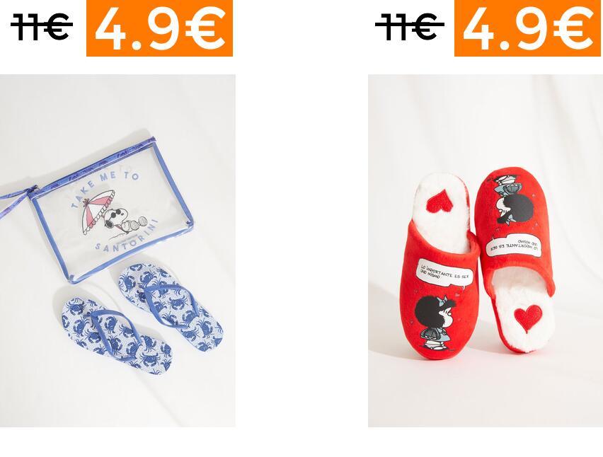 Chanclas y zapatillas de casa Women'Secret desde 4.9€