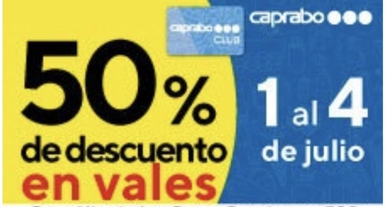 CAPRABO: 50% de tu compra en vales 5€
