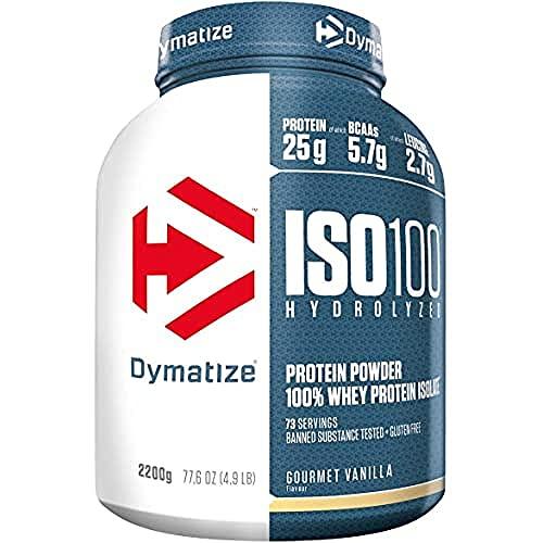 Dymatize ISO 100 Gourmet Vanilla 2,2kg - Hidrolizado de Proteína de Suero Whey + Aislado en Polvo