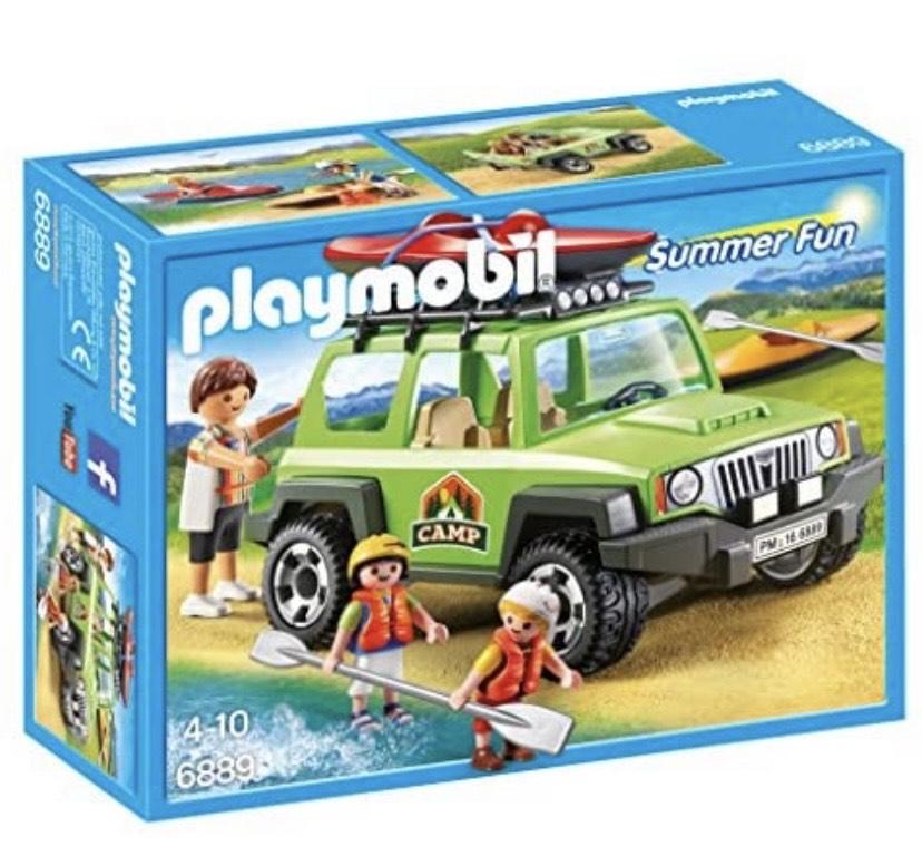 Playmobil Playset Campamento de Verano con Coche Off-Road SUV