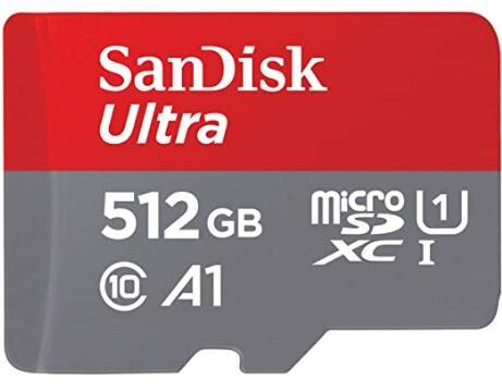 Tarjeta de memoria microSD SanDisk de 512 GB por 71,32 €