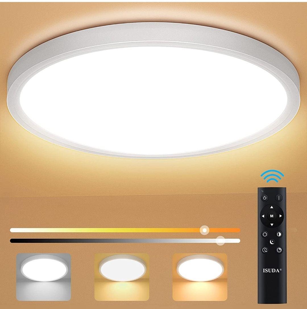 Lámpara de Techo Moderna Regulable con Mando a Distancia