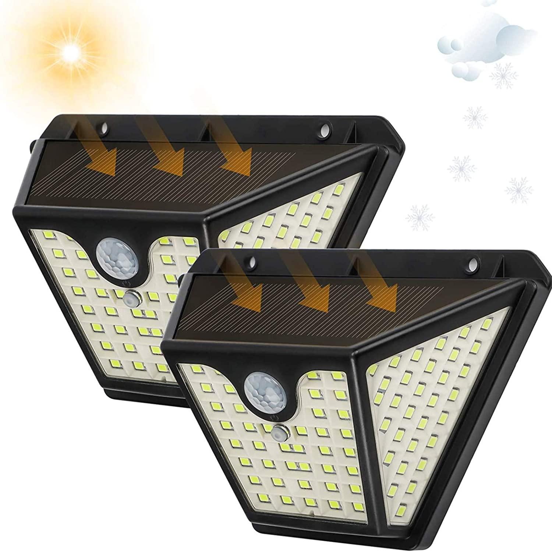 2x Focos solares sensor movimiento solo 7.9€