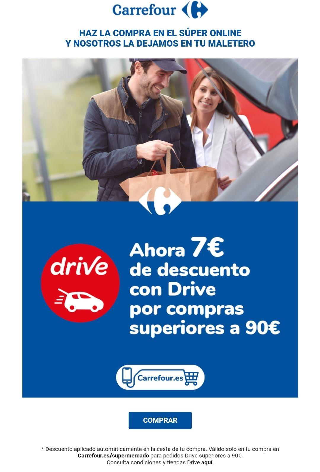 7€ de descuento con Drive por compras superiores a 90€