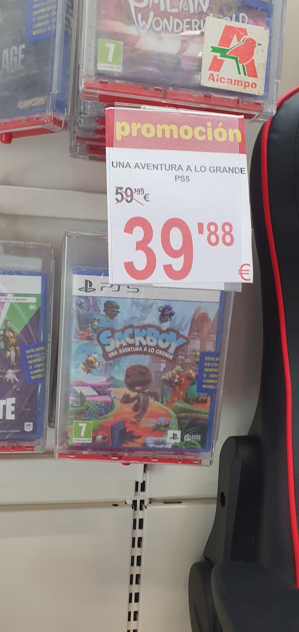 Sackboy una aventura a lo grande para PS5 en alcampo de marratxi (palma de mallorca)