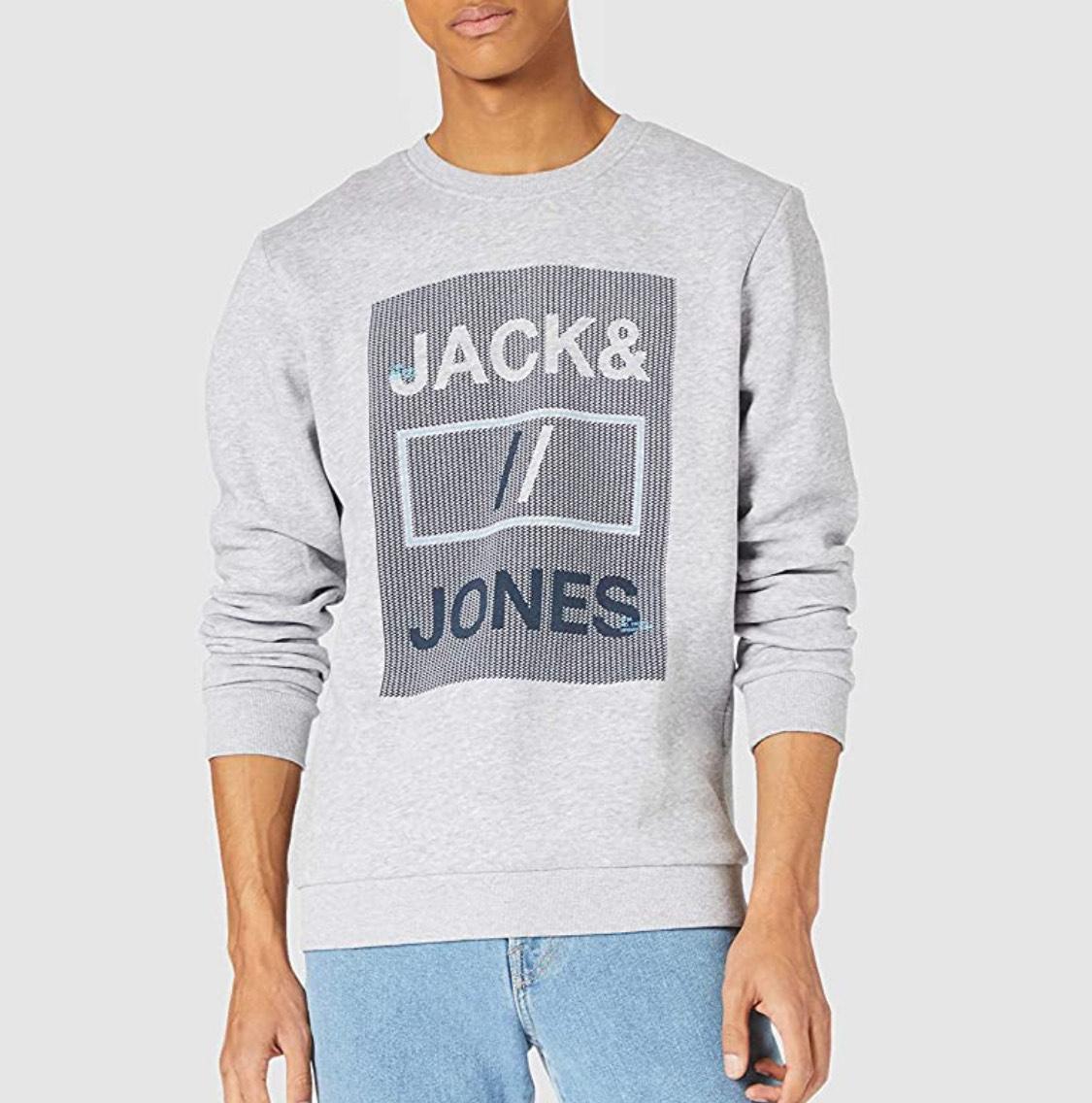 Sudadera gris claro Jack & Jones hombre talla M.