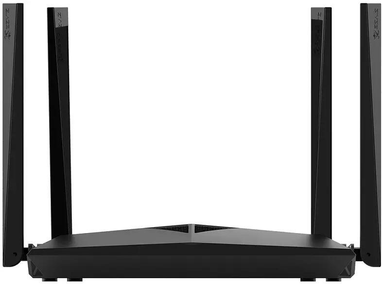 Router inalámbrico - Ezviz W3C CS-W3C-WD1200G, 1166 Mbps, Doble banda, 3 Puertos, 4 Antenas externas, Negro