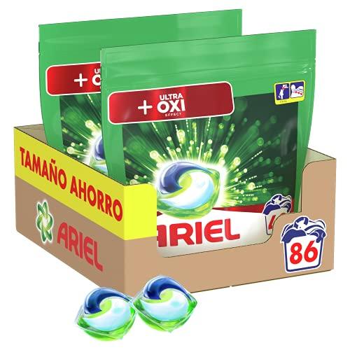 Ariel Pods Detergente Lavadora Cápsulas, 86 Lavados por 11,90€ y 129 Lavados por 16,06€