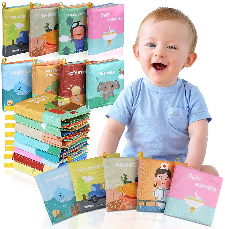 Juego de 8 libros impermeables para bebes