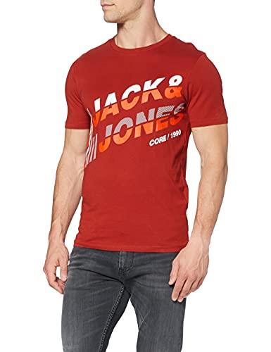 Jack & Jones Jcoalpha tee SS Fst (roja) Camiseta