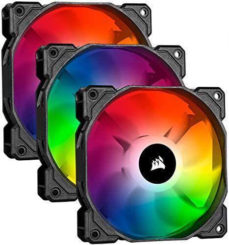 Corsair iCUE SP120 RGB PRO - Ventilador de chasis de 120mm, Silencioso, de Flujo de aire elevado (Pack de 3)
