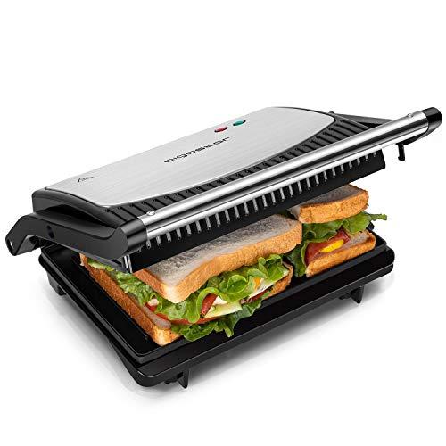 Grill, parrilla, panini, sándwich, 750W de potencia, placas antiadherentes