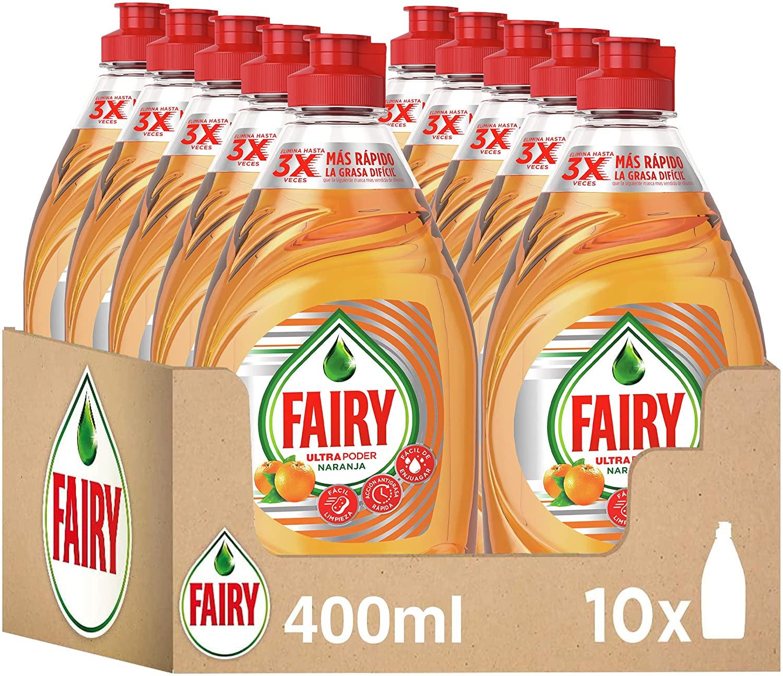 10x Fairy Ultra naranja 400ml solo 12€