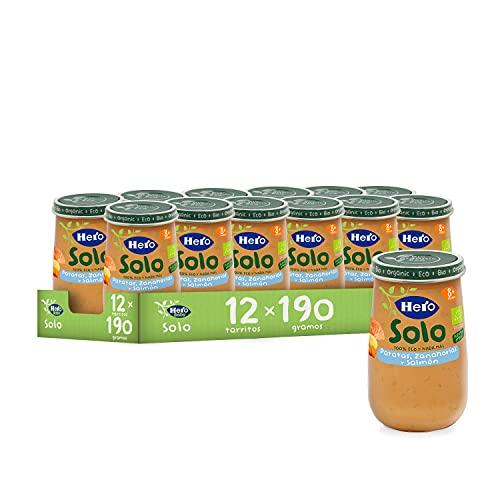 12 unidades Hero Solo - Tarrito Eco de Patata, Zanahoria y Salmón