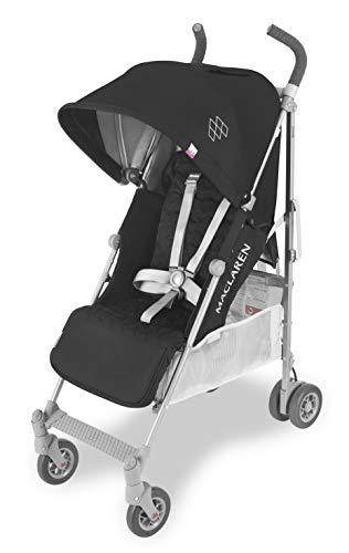 Maclaren Quest, Silla de paseo hasta los 25 kg, asiento multiposición, suspensión en las 4 ruedas, capota extensible con UPF 50+