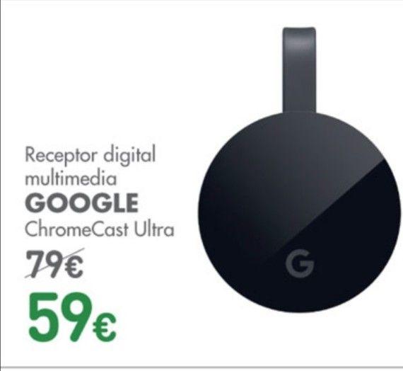 Chromecast ultra rebajado a 59