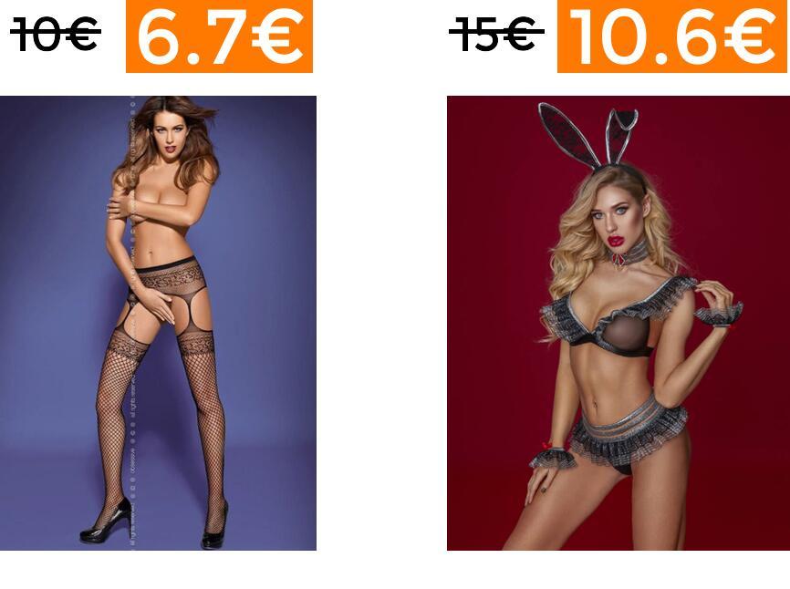 Rebajas en selección lencería erótica +15% EXTRA
