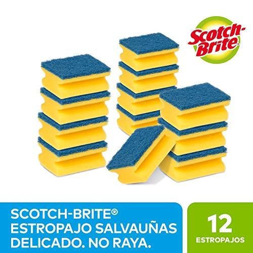 Pack de 12 Estropajos para fregar sin rayar delicado Scotch-Brite