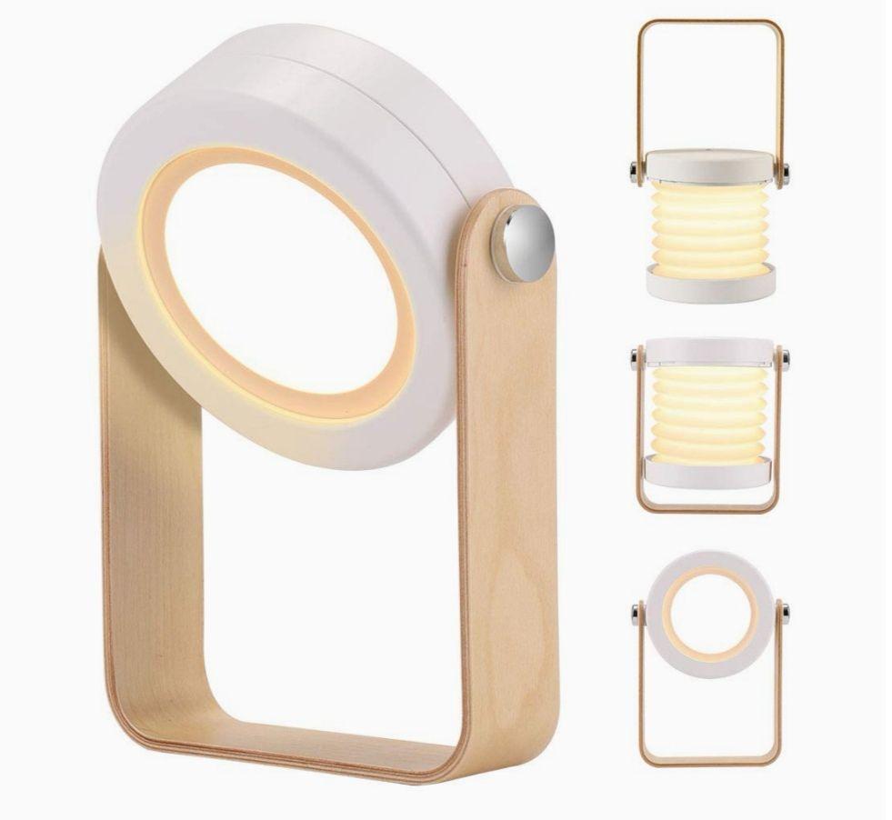 Lámpara de mesa plegable, 3 Niveles de brillo, carga USB