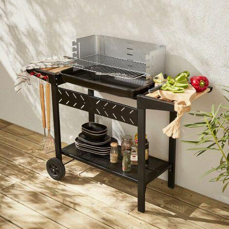 Barbacoa de carbón vegetal - Alfred - Negro y gris