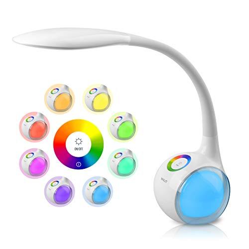 Lámpara , Táctil, 256 RGB Luz de Color, 3 Niveles de Brillo, Flexo LED Regulable. Por 13,99€