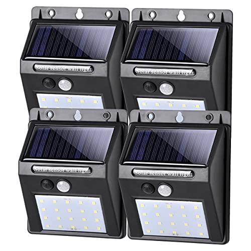 Pack de 4, Luces LED Solares Exteriores con Sensor de Movimiento. Por 16,79€